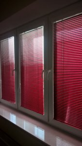 Żaluzje Aluminiowe Czerwone